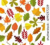 seamless pattern with colorful... | Shutterstock .eps vector #699257239