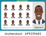 face expressions of a man...   Shutterstock .eps vector #699259681