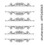 decorative frames .vintage... | Shutterstock .eps vector #699260065