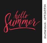 nothing is true lettering... | Shutterstock .eps vector #699265954