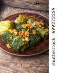 diet food.vegetable dietary...   Shutterstock . vector #699272239