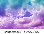 Purple And Blue Cloud And Sky...