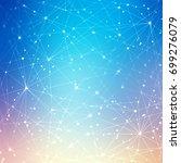 high tech technology network... | Shutterstock . vector #699276079