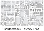 icons set of interior  top view ... | Shutterstock .eps vector #699277765