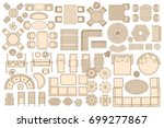 icons set. outdoor furniture...   Shutterstock .eps vector #699277867