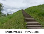 Long Wood Stairs To Top Of...