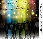 silhouettes of people dancing... | Shutterstock .eps vector #699290239
