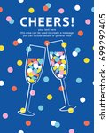 champagne card with space for... | Shutterstock .eps vector #699292405