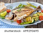 Grilled Gilthead Seabream With...