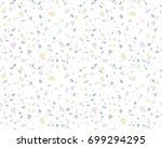 terrazzo pattern. endless...   Shutterstock .eps vector #699294295