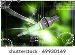 digital illustration of spark...   Shutterstock . vector #69930169