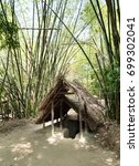 Small photo of Tunnel entrance roof. Cu Chi Tunnels. Vietnam