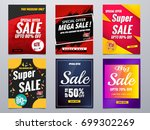 sale banners template collection | Shutterstock .eps vector #699302269