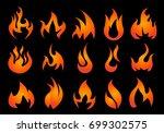 fire icons set vector | Shutterstock .eps vector #699302575