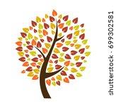 autumn tree icon vector... | Shutterstock .eps vector #699302581