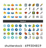 set of icons in different style ... | Shutterstock .eps vector #699304819