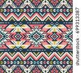 retro colors tribal vector... | Shutterstock .eps vector #699313387
