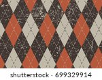 clasic argyle aged pattern.... | Shutterstock .eps vector #699329914