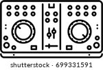 dj console outline icon | Shutterstock .eps vector #699331591