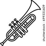 trumpet outline icon | Shutterstock .eps vector #699331609