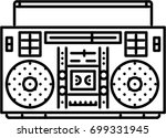 music player outline icon | Shutterstock .eps vector #699331945