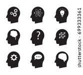 man head mind thinking vector... | Shutterstock .eps vector #699333361