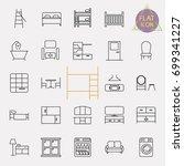interiors furniture line icon... | Shutterstock .eps vector #699341227
