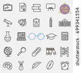 education line icon set | Shutterstock .eps vector #699341554