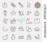 beauty line icon set | Shutterstock .eps vector #699341611