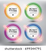 abstract vector banner set of 4.... | Shutterstock .eps vector #699344791