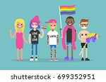 love parade. gay pride. lgbtq.... | Shutterstock .eps vector #699352951