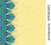 card with floral oriental... | Shutterstock . vector #699361891