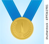 gold medal for first place....   Shutterstock .eps vector #699361981