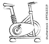 spinning bike isolated icon | Shutterstock .eps vector #699363319