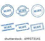 work stamps | Shutterstock .eps vector #699373141