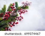 christmas  decoration... | Shutterstock . vector #699374467