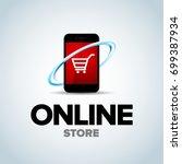 mobile online shop  mobile... | Shutterstock .eps vector #699387934