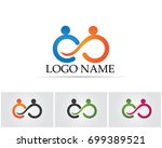 infinity people family care logo | Shutterstock .eps vector #699389521