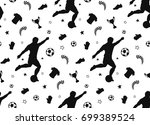 hand drawn seamless pattern... | Shutterstock .eps vector #699389524