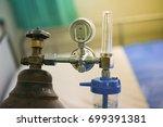 equipment medical oxygen tank... | Shutterstock . vector #699391381
