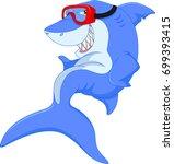 cute shark cartoon | Shutterstock . vector #699393415