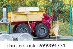 robotic technique of the... | Shutterstock . vector #699394771