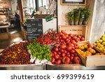 green market veggies in paris