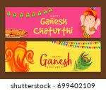 creative card header or banner... | Shutterstock .eps vector #699402109