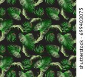 seamless pattern of tropical... | Shutterstock .eps vector #699403075