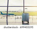 airport luggage in airport... | Shutterstock . vector #699403195