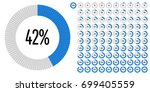 set of circle percentage... | Shutterstock .eps vector #699405559