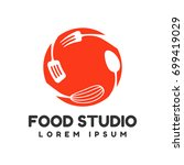 food studio vector logo.... | Shutterstock .eps vector #699419029