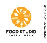 Food Studio Vector Logo....