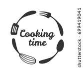 food studio vector logo.... | Shutterstock .eps vector #699419041